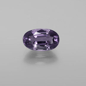 1.7ct Oval Facet Dark Violet Spinel Gem (ID: 370209)