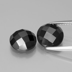 3.6ct Round Rose-Cut Black Spinel Gem (ID: 377527)