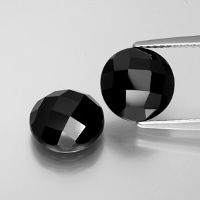 3.5ct Round Rose-Cut Black Spinel Gem (ID: 377699)