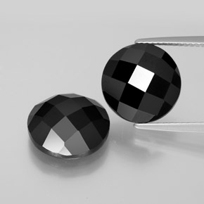 6.9ct Round Rose-Cut Black Spinel Gem (ID: 378270)