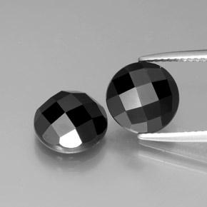 3.8ct Round Rose-Cut Black Spinel Gem (ID: 378447)