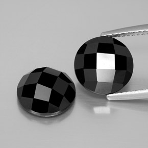 Black Spinel Gem - 4.9ct Round Rose-Cut (ID: 378629)