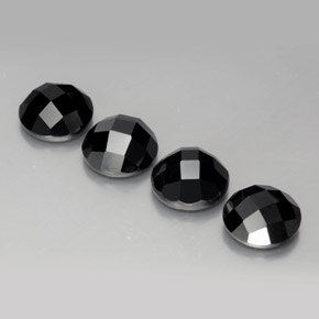 Black Spinel Gem - 3.5ct Round Rose-Cut (ID: 378694)