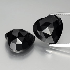 Black Spinel Gem - 8.7ct Heart Rose-Cut (ID: 379036)