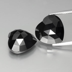 Black Spinel Gem - 8.1ct Heart Rose-Cut (ID: 379040)