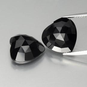 Black Spinel Gem - 8.5ct Heart Rose-Cut (ID: 379045)