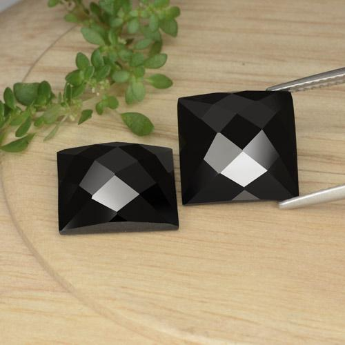 Schorl Spinel Gem - 8.3ct Square Rose-Cut (ID: 379230)