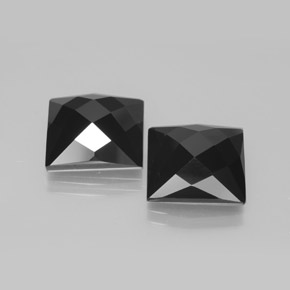 Schorl Spinel Gem - 8.3ct Square Rose-Cut (ID: 381369)