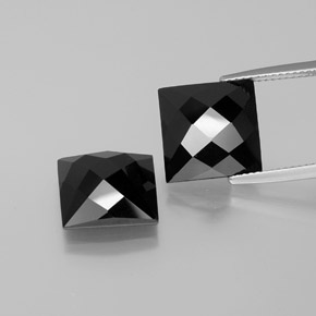 Black Spinel Gem - 8.2ct Square Rose-Cut (ID: 381370)