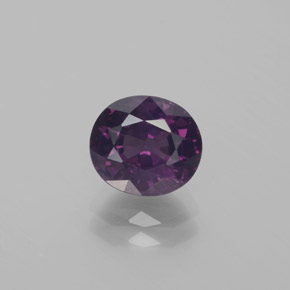 Violet Purple Spinel Gem - 2ct Oval Facet (ID: 382634)