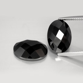 Black Spinel Gem - 7.4ct Oval Rose-Cut (ID: 383904)