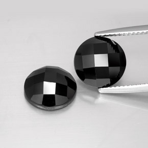 4.1ct Round Rose-Cut Black Spinel Gem (ID: 383910)