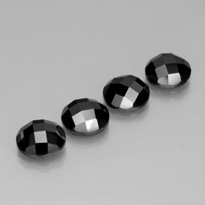 4.5ct Round Rose-Cut Black Spinel Gem (ID: 383922)