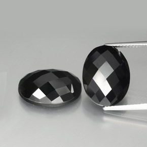 Black Spinel Gem - 10.2ct Oval Rose-Cut (ID: 384190)