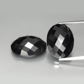 Black Spinel Gem - 9.8ct Oval Rose-Cut (ID: 384192)