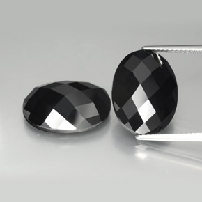 Schorl Spinel Gem - 10ct Oval Rose-Cut (ID: 384193)