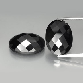 Black Spinel Gem - 11ct Oval Rose-Cut (ID: 384195)