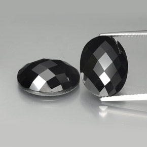Schorl Spinel Gem - 10.5ct Oval Rose-Cut (ID: 384197)