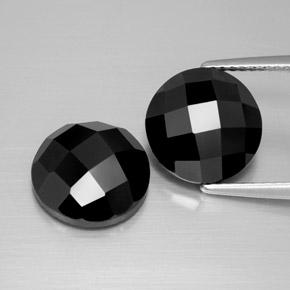 Black Spinel Gem - 4.8ct Round Rose-Cut (ID: 384310)