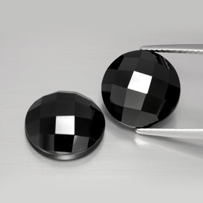 Black Spinel Gem - 6.6ct Round Rose-Cut (ID: 384490)