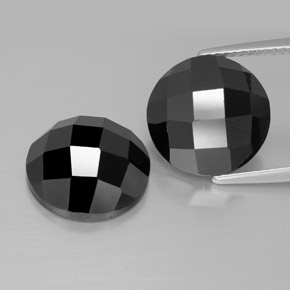 Black Spinel Gem - 7.4ct Round Rose-Cut (ID: 384556)
