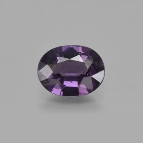 1.4ct Oval Facet Grape Violet Spinel Gem (ID: 400460)