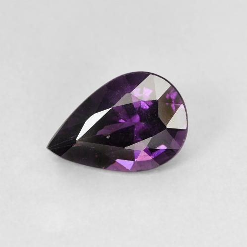 Purple Spinel Gem - 1.1ct Pear Facet (ID: 400597)