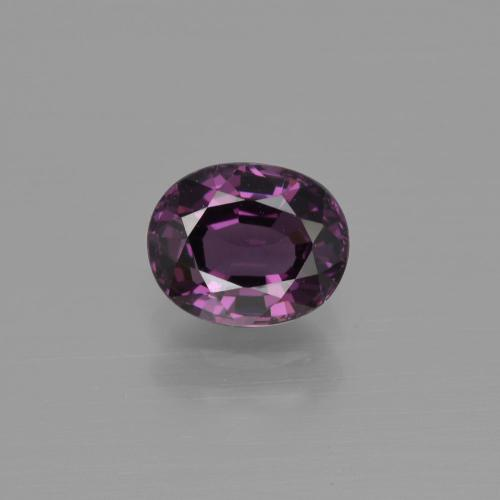 Raspberry Red Purple Espinela Gema - 1.3ct Forma ovalada (ID: 401611)