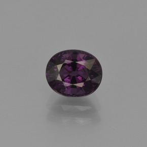 Purple Spinel Gem - 1.3ct Oval Facet (ID: 401619)