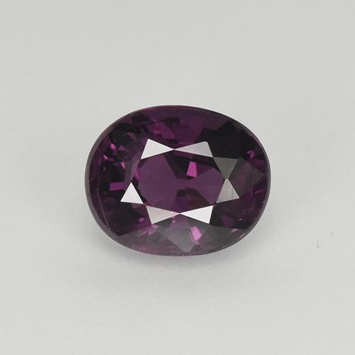 Pinkish Violet Spinel Gem - 1.1ct Oval Facet (ID: 401620)