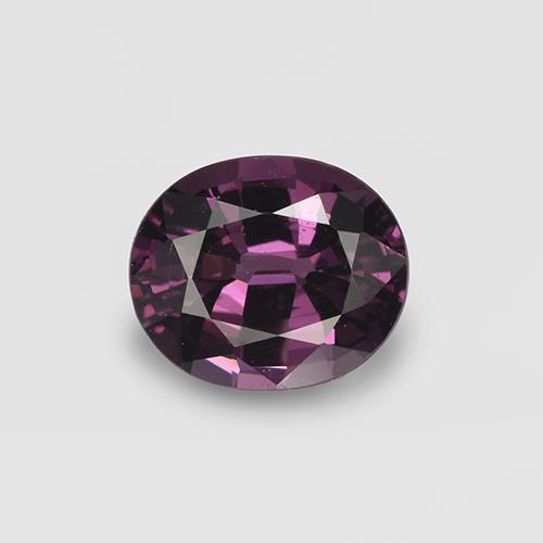 Pinkish Violet Spinel Gem - 1ct Oval Facet (ID: 401706)