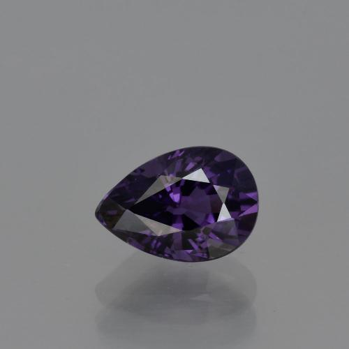 Purple Spinel Gem - 1.1ct Pear Facet (ID: 401745)