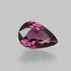 Dark Raspberry Red Spinel Gem - 1.3ct Pear Facet (ID: 402839)