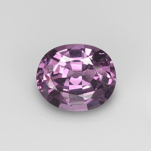 Pinkish Violet Spinel Gem - 1ct Oval Facet (ID: 406178)