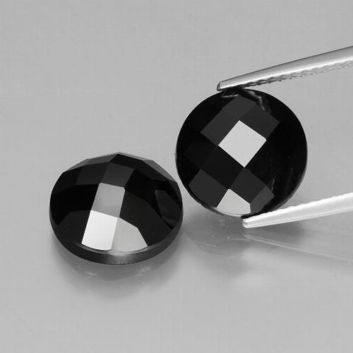Schorl Spinel Gem - 4.6ct Round Rose-Cut (ID: 426457)