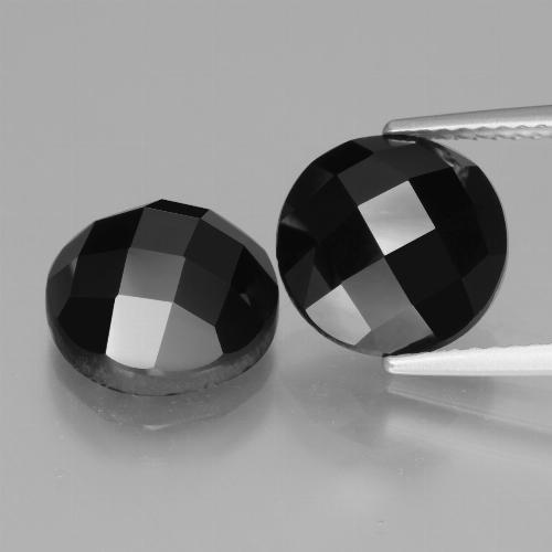 Black Spinel Gem - 4.8ct Round Rose-Cut (ID: 426557)