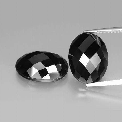 Schorl Spinel Gem - 9.7ct Oval Rose-Cut (ID: 426618)
