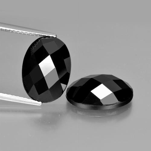 Black Spinel Gem - 6.1ct Oval Rose-Cut (ID: 426670)