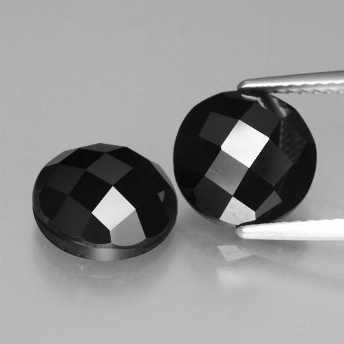 Black Spinel Gem - 3.5ct Round Rose-Cut (ID: 426714)