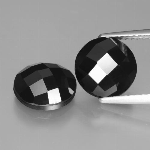 Black Spinel Gem - 3.2ct Round Rose-Cut (ID: 426718)