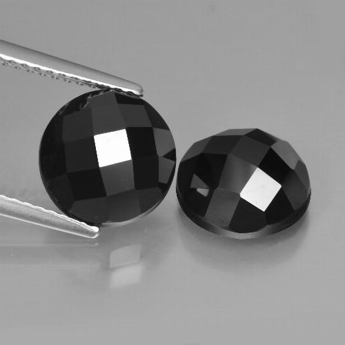 Black Spinel Gem - 3.4ct Round Rose-Cut (ID: 426744)