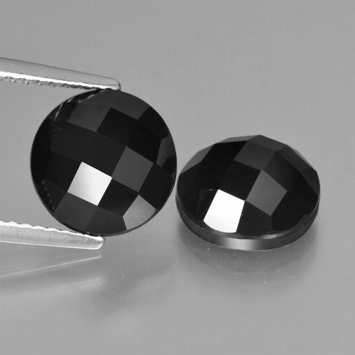 Schorl Spinel Gem - 3.6ct Round Rose-Cut (ID: 426750)