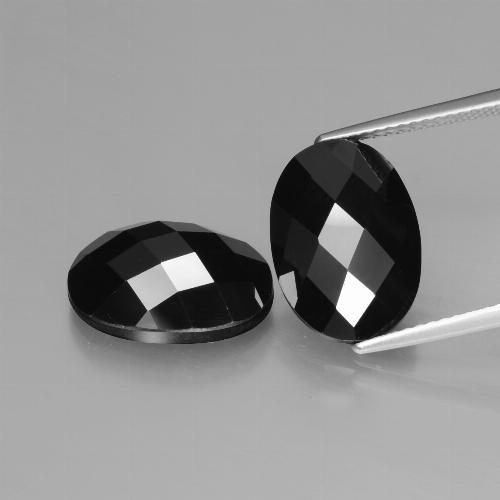 Schorl Spinel Gem - 5.8ct Oval Rose-Cut (ID: 426842)