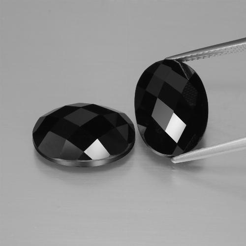 Schorl Spinel Gem - 7.1ct Oval Rose-Cut (ID: 426848)