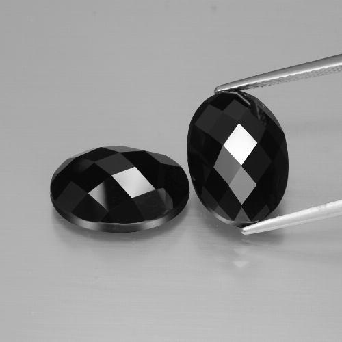 Black Spinel Gem - 7.6ct Oval Rose-Cut (ID: 426849)