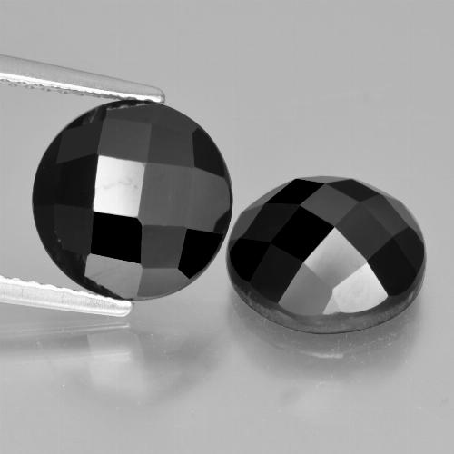 Black Spinel Gem - 4.5ct Round Rose-Cut (ID: 426923)
