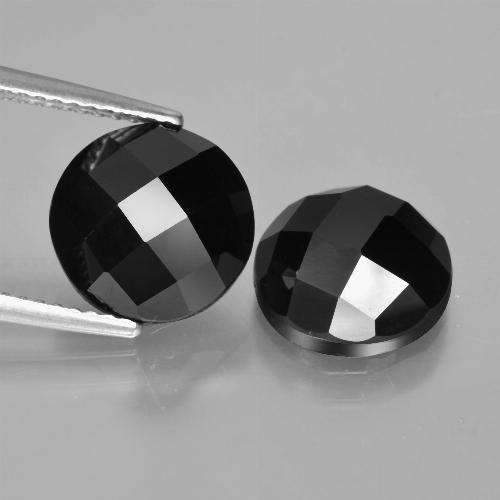 Black Spinel Gem - 4.3ct Round Rose-Cut (ID: 426925)