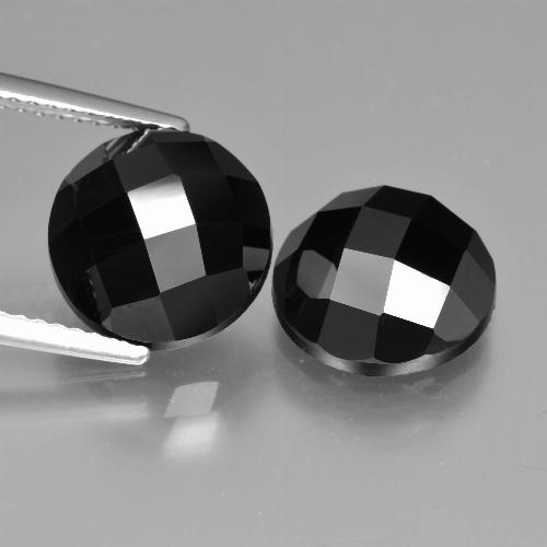 Black Spinel Gem - 5.1ct Round Rose-Cut (ID: 426931)