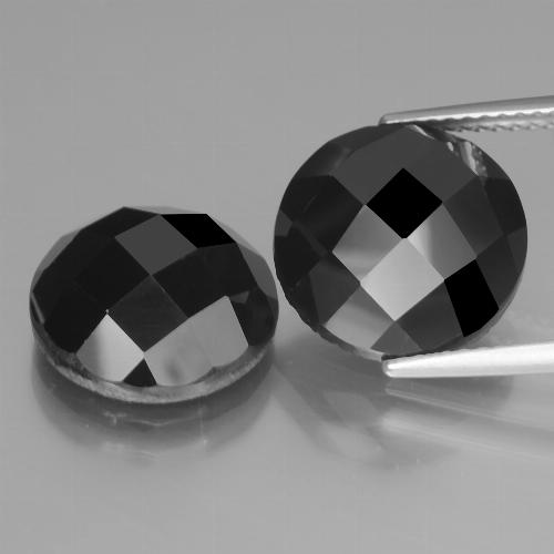 Black Spinel Gem - 7.6ct Round Rose-Cut (ID: 438490)