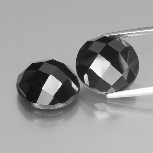 7.4ct Round Rose-Cut Black Spinel Gem (ID: 438491)